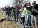 Společné pozorování na hrázi Hradeckého rybníka